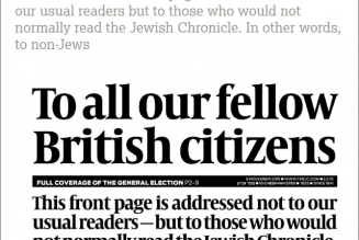 British Editorial urges non-Jews to not vote for Labour Party leader Jeremy Corbyn