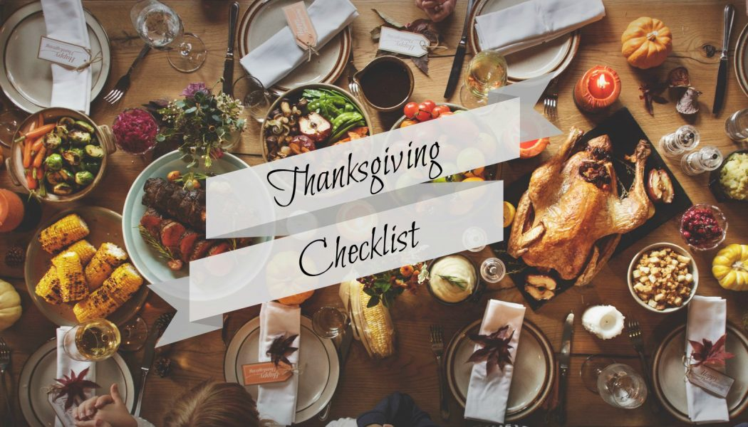 The Thanksgiving Checklist