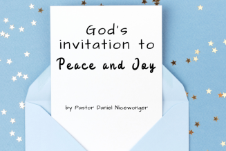 God's Invitation to Peace and Joy