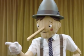 Priest or Pinocchio? People can tell the difference…..