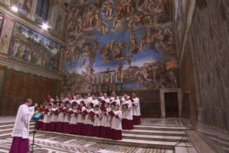 The sounds of the Sistine Chapel Choir…