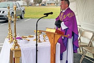 Coronavirus leads Indiana priest to offer Mass in parking lot, using low-power FM transmitter…