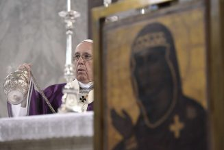 "Pope to miss Lenten retreat due to cold; makes appearance for Sunday Angelus message, preaching, ""Never dialogue with the devil"" …"