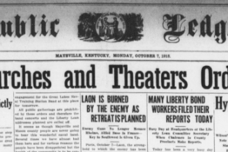 What the 1918 influenza pandemic meant for American churches…