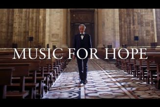 Dear New Advent readers, you must see this: Andrea Bocelli's Easter Sunday solo performance from the Duomo of Milan…