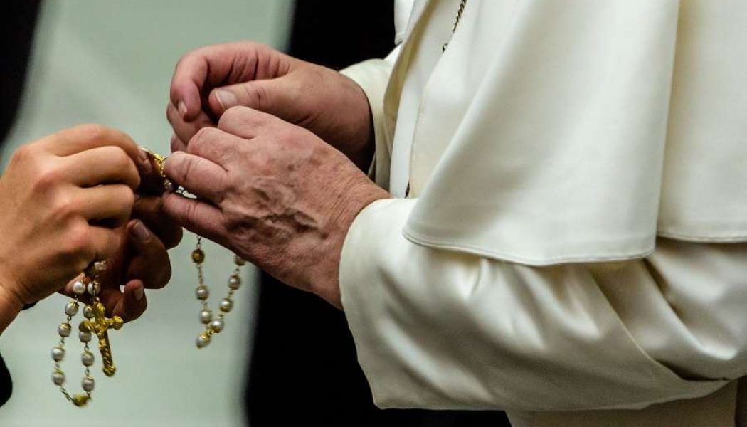 Pope Francis urges Catholics to pray the Rosary in May, adds two new prayers to say at end of Rosary…