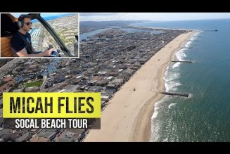 A helicopter view of southern California beaches (plus Disneyland)…