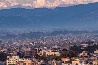 Mount Everest is visible from Kathmandu, Nepal, for the first time in living memory…