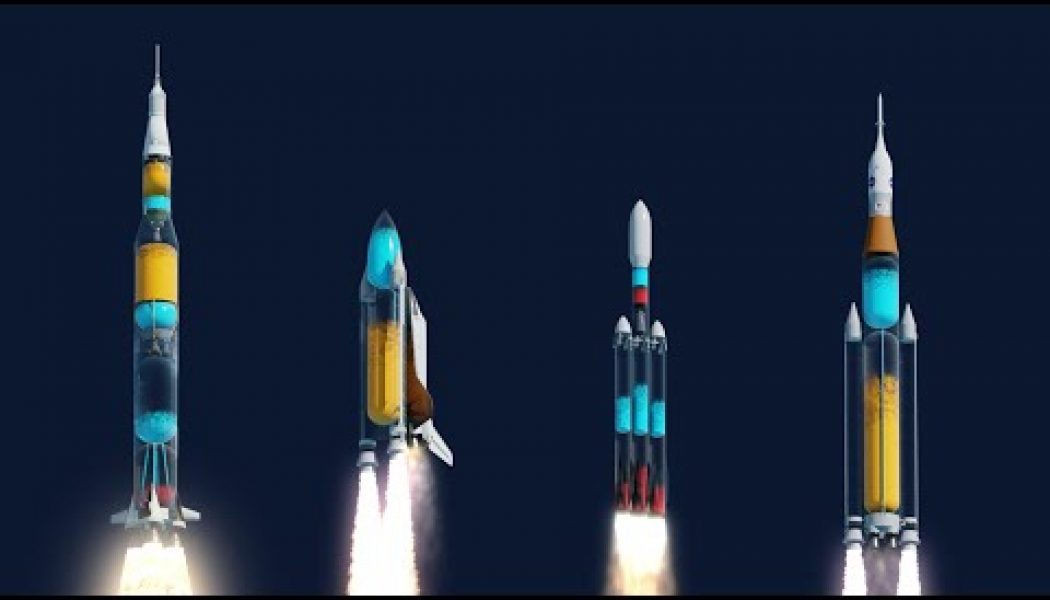 What the Saturn V, Space Shuttle and other rockets would look like if they were transparent…