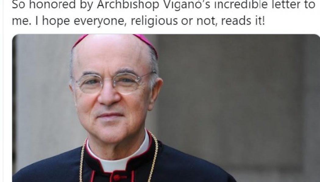 President Trump tweets thanks to Archbishop Viganò for 'deep state' letter…