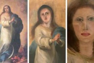 Spanish Baroque painting botched by amateur restoration…
