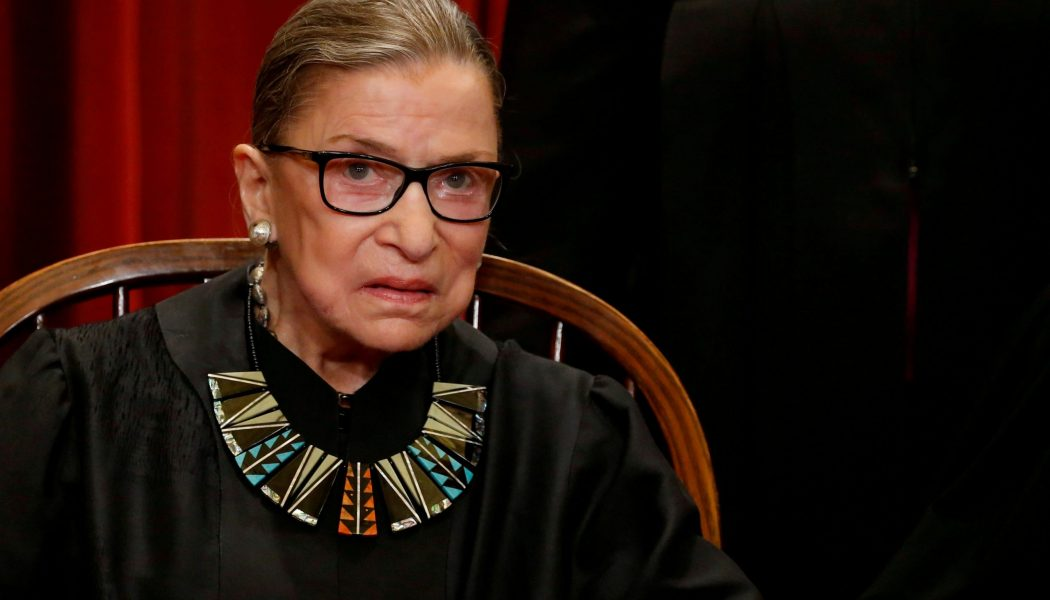 87-year-old Justice Ruth Bader Ginsburg says she's being treated for liver cancer but working 'full steam'…