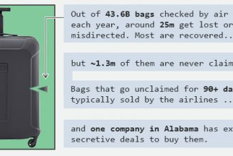 Meet the company that sells your lost airplane luggage…