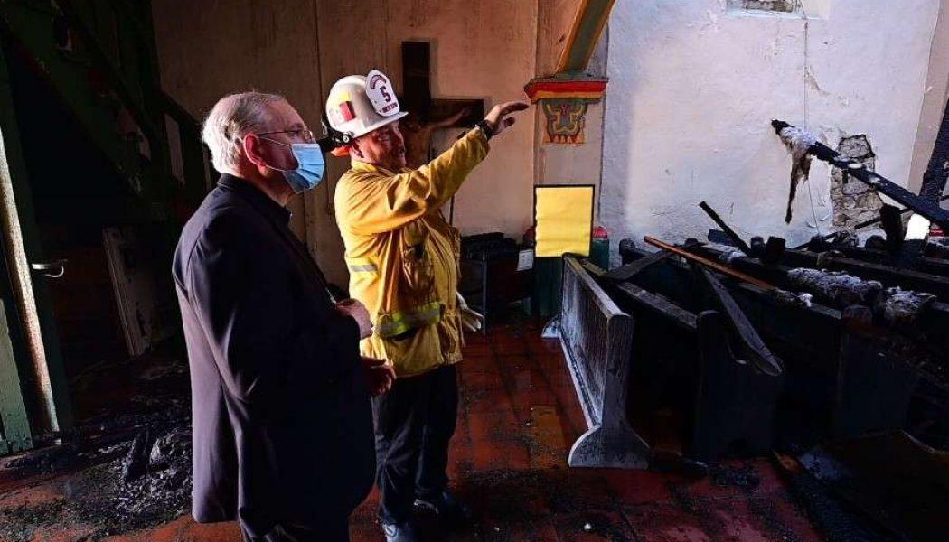 San Gabriel, California mission founded by St. Junípero Serra, burns in overnight fire…