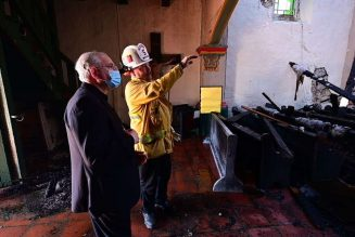 San Gabriel, California mission founded by St. Junípero Serra, burns in overnight fire…
