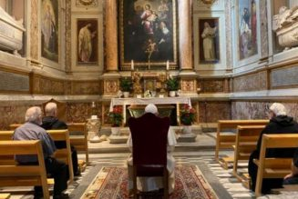 Pope Francis makes surprise visit to Rome's Basilica of St. Augustine…