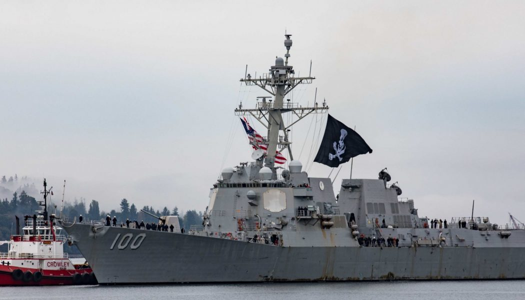 The reason why this U.S. Navy destroyer flies a Jolly Roger pirate flag…