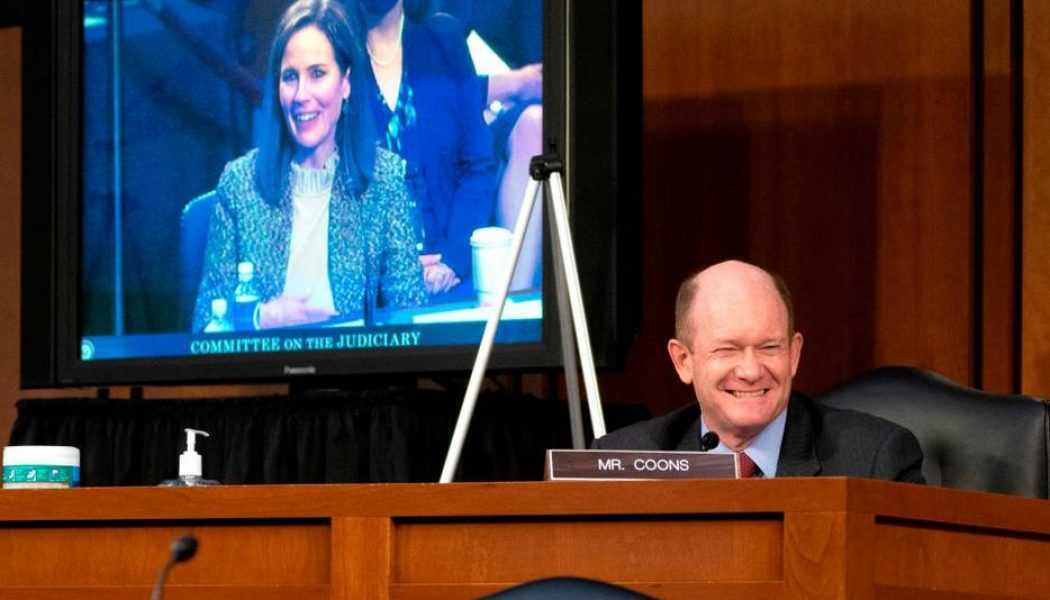 At Amy Coney Barrett hearings, Sen. Chris Coons turned John Paul II's theology of the body upside down…