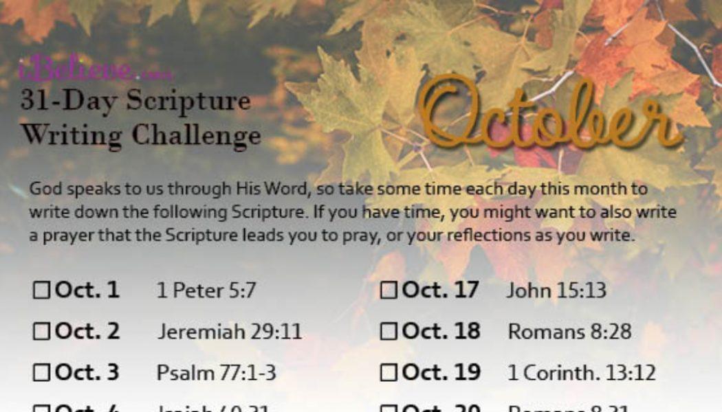 October Scripture Writing Guide (2020)