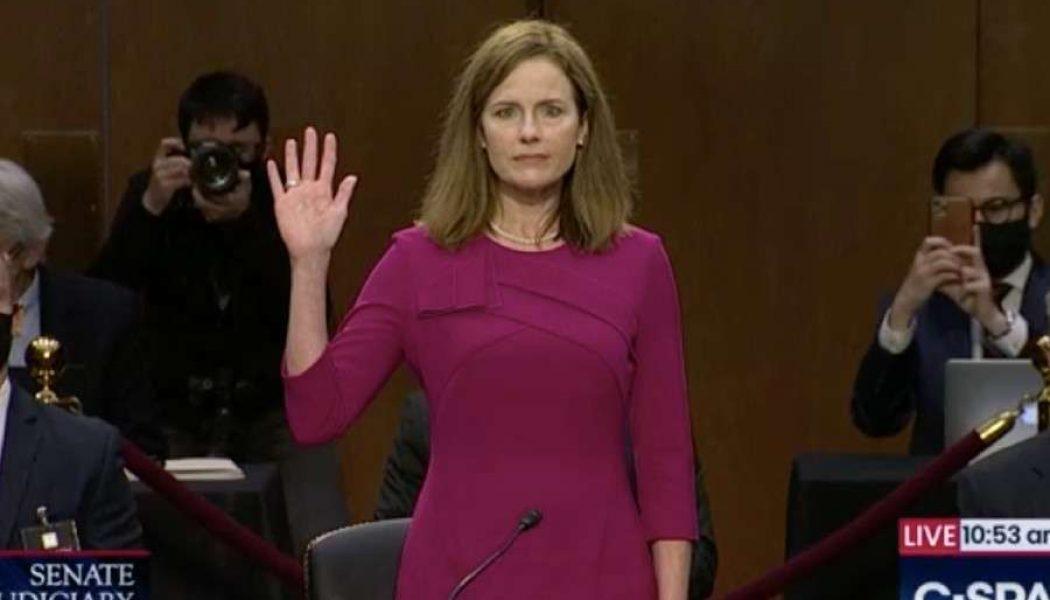 Senate set to confirm Amy Coney Barrett to Supreme Court Monday evening…