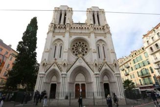 "Shouting ""Allahu Akbar,"" Islamist terrorist stabs to death three people in basilica in Nice, France…"