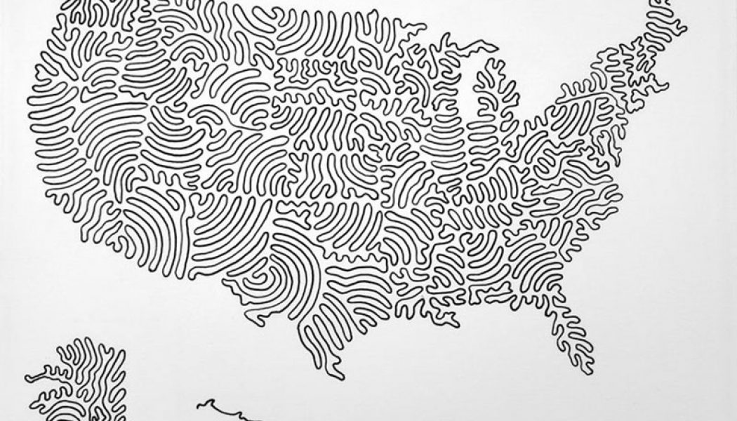 A map of the United States — drawn with just 3 lines…