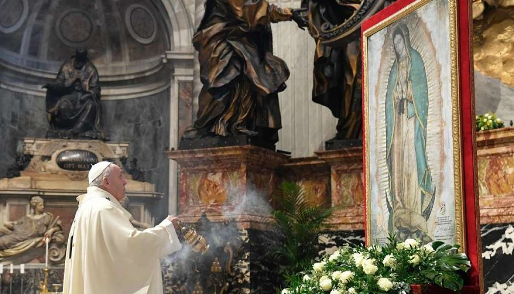 Pope Francis: The image of Our Lady of Guadalupe points us to God's 'gift, abundance, and blessing'…