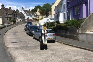 How this solitary priest brought Our Lord to the empty streets of his Welsh village…