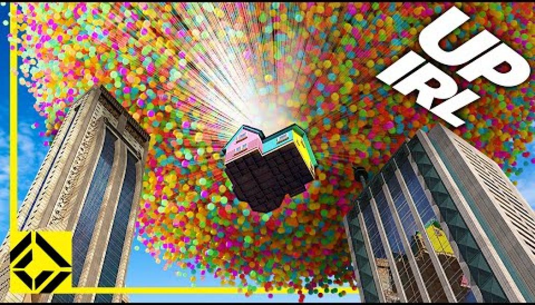 How many balloons would it really take to lift the house in Pixar's 'Up'? Millions — and here's what it would look like…