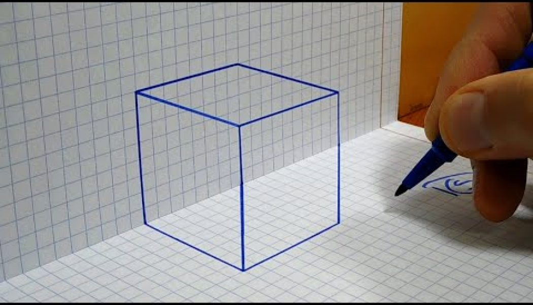 Learn how to draw a 3D cube on graph paper and amaze your friends…