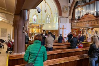 Police break up a Good Friday service in London, and the Pope offers Mass with Becciu…