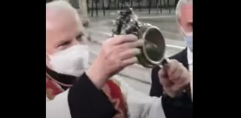 Blood of St. Januarius miraculously liquifies after remaining solid in December — see the video here…