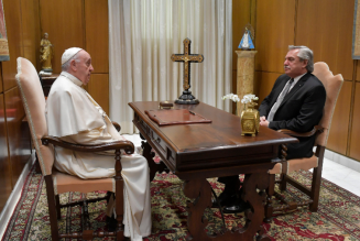 The Pope's visit Thursday with the pro-abortion president of Argentina was curious (and embarrassing) on many levels…