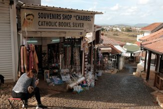 Without tourists, the formerly bustling town of Medjugorje has turned into a ghost town…