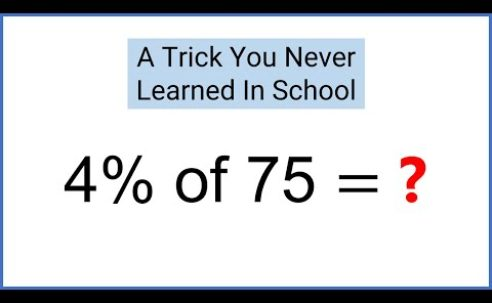 99% of people don't know this simple math hack for calculating percentages…