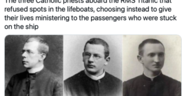 The 3 heroic priests aboard the Titanic who died saving the lives (and souls) of passengers…