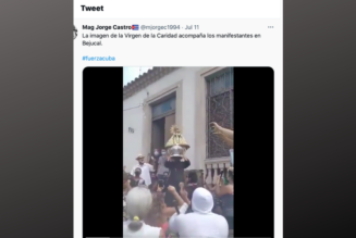 Cuban protesters take to the streets for their freedom, under the patronage of Our Lady of Charity…