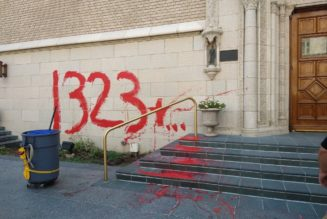 Denver's historic Holy Ghost Church vandalized, with possible reference to Canadian residential schools…