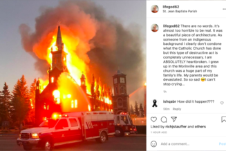 """""""I can't stop crying"""": Historic Catholic church destroyed in suspected arson attack in Canada …"""