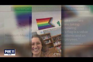 California teacher removes U.S. flag from classroom, tells student to pledge allegiance to rainbow flag instead…