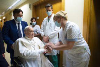 Pope says nurse saved his life, brushes off 'hurricane' of resignation rumors…