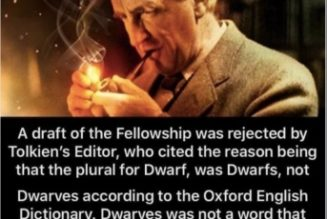 They lied about J.R.R. Tolkien. One more reason to be careful with memes you really, really like…