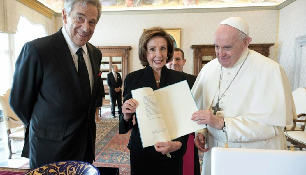 """Nancy Pelosi leaves Mass in Rome due to """"security concerns"""" over Green Pass demonstration, not heckling (as some news reports had said)…"""